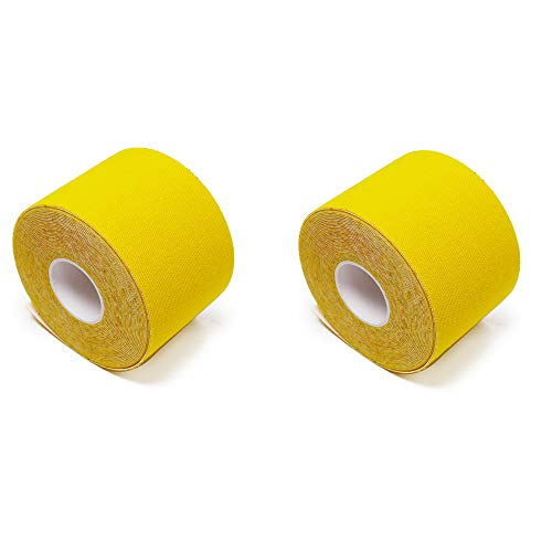 Fliyeong - Cinta elástica para deportes o actividades al aire libre, 2 unidades, color amarillo