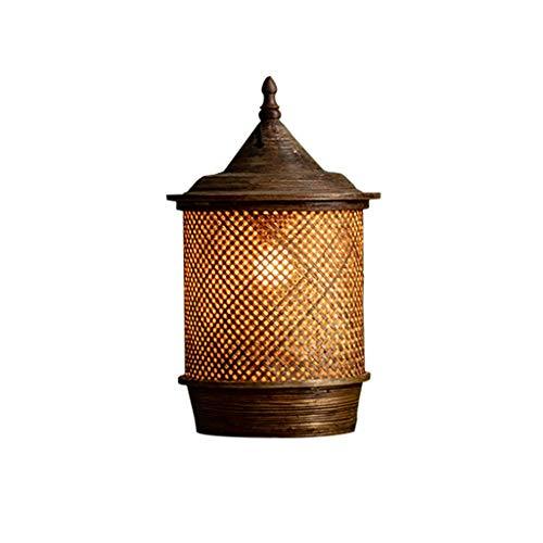 Pointhx Sudeste Asiático Lámpara colgante de bambú Art E27 1-Luz Lámpara de Techo de Bambú Tejiendo Decoración de Lámpara Colgante Escalera, Cafetería Cocina Isla Iluminación