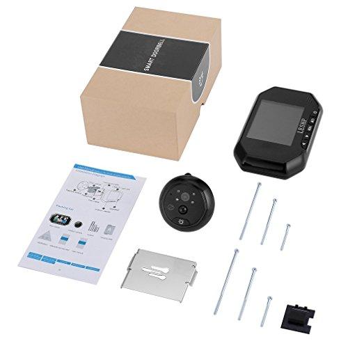 3,5 inch PIR bewegingssensor digitale deur kijkgaatje kijker camera zwart