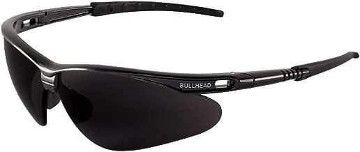 Bullhead Safety Eyewear BH61712 Safety Glass, Stinger, One Size, Dark Gray Frame/Temples/Polarized Smoke Lens