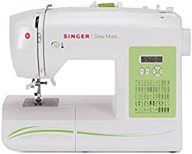 SINGER | Sew Mate 5400 Handy Sewing Machine Including 60 Built-in Stitches, 4 Fully Built-in 1-Step Buttonhole, Automatic Needle Threader & Automatic Tension, Help to get Started in No time