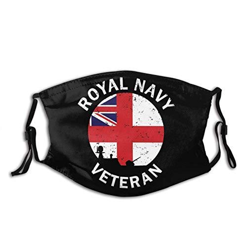 Clásico Royal Navy Adultos Bandana Cara Cuello Polaina Cara Bufanda Máscara de Polvo, Resistente al Viento Transpirable Pesca Senderismo Correr C