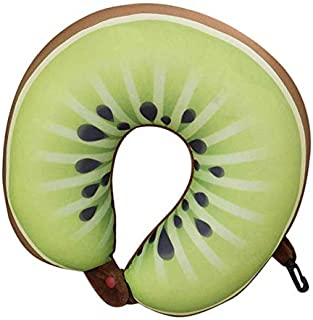 RKZM U en Forme de Cou Oreiller Kiwi Orange Bande Dessinée Fruits Oreillers Massage Cou Cou De Voyage De Voiture Coussin S...
