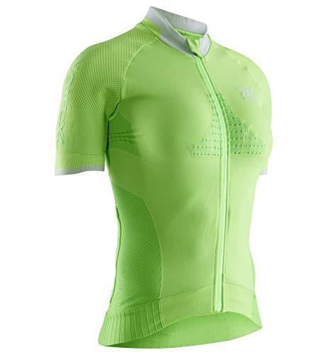 X-Bionic Invent 4.0 Bike Race Zip Chemise Femme, Amazonas Green/Magnolia Purple, FR : S (Taille Fabricant : S)