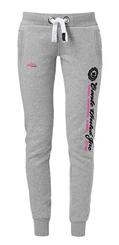 M.Conte Slim Fit joggingbroek roze grijze blauwe en rode dames joggingbroek lang. Sportbroek joggingbroek korte trainingsbroek vrijetijdsbroek super zacht en knuffelig Ramona
