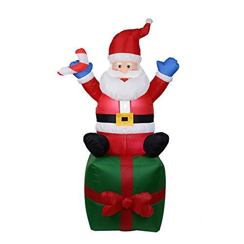 YANKAN Selbstaufblasbare Dekoration Weihnachtsbeleuchtung • Gartendekoration LED-Beleuchtung, (Aufblasbarer Weihnachtsmann 1,8 M)