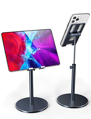 Fitfort Tablet Stand, Adjustable Tablet/Phone Holder of Aluminum Alloy Material, Case Friendly Stable Tablet Stand for iPad, iPad Air, iPad Pro 10.5, Samsung Tabs, and Phones Under 10.5-inch