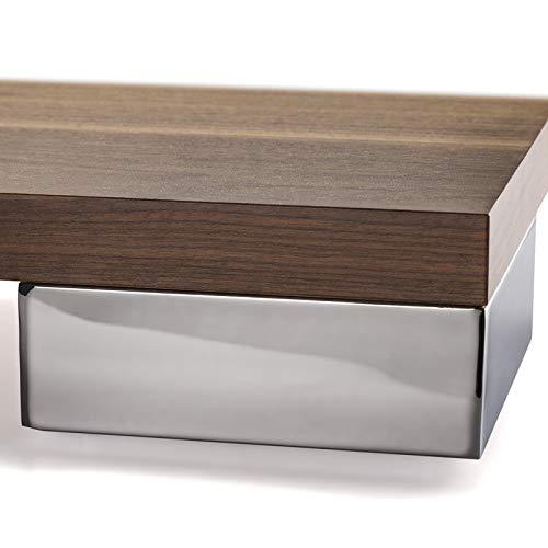4 Stück Möbelfuß Juliett Chrom 150 x 150 x 56,3 mm Schrankfuß Polsterfuß von SO-TECH