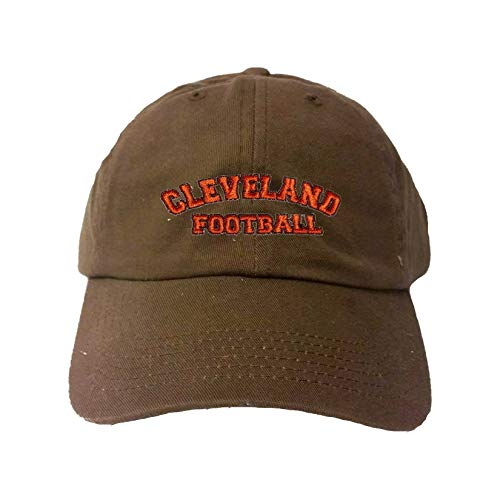 Go All Out Adjustable Brown Adult Cleveland Football Embroidered Dad Hat