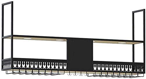 Wlylyhjy Hanging-Becherhalter, Weinregal Eisen Haushalt Restaurant Bar Lagerschrank Weinregal Startseite Weinhalter Weinregal Hänge