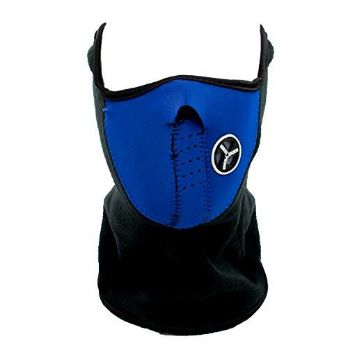 TRIXES Masque Facial en Noir Parfait pour l'hiver et Les Sports: Ski, Snowboard, BMX, vélo, Course, randonnée, Paintball et activités de Plein air - Bleu