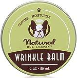Natural Dog Company Wrinkle Balm 59 ml | Bálsamo antiarrugas, orgánico, vegano - tratamiento de arrugas de la piel, control de infecciones por hongos, dermatitis, pliegues cutáneos secos y con picazón