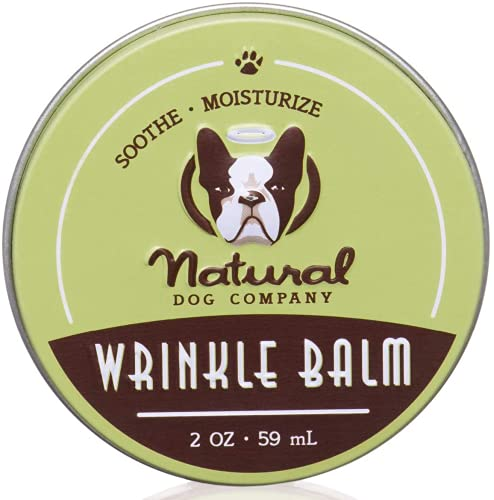 Natural Dog Company Faltenbalsam, veganer Bio-Heilbalsam – Hautfalten-Behandlung, Hefe-Infektionskontrolle, Dermatitis, trockene, juckende Hautfalten – 59 ml