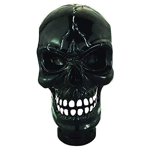 Abfer Gear Stick Shift Knob Cool Skull Car Handle Shifter Knobs Shifting Head Fit Automatic Manual Transport Vehicles (Black)