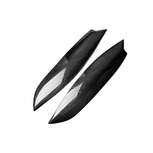 SIAKYED 1 Paar Scheinwerfer Augenbraue Anwendbar FüR Volkswagen Golf5 MK5 Sagitar, Auto Vordere Scheinwerferblenden Augenbrauen Dekorativ Cover Aufkleber