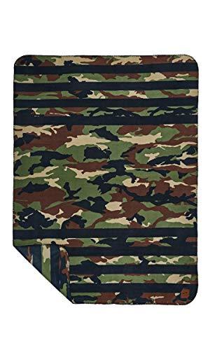 Slowtide - Regime fleece deken | 100% gerecycled materiaal - omkeerbaar ontwerp - oversized 50 x 66