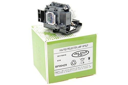 Alda PQ-Premium, Lámpara de proyector Compatible con NP16LP, 60003120 para NEC M230X, M260W, M260WS, M260X, M260XS, M260XSG, M300, M300W, M300WG, M300X Proyectores, lámpara con Carcasa