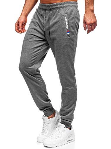 BOLF Uomo Pantaloni Sportivi della Tuta da Allenamento Atletici Gli Sport da Calcio Fitness Pareggiatore da Jogging Slim Fit Street Style Must JX9519 Grigio M [6F6]
