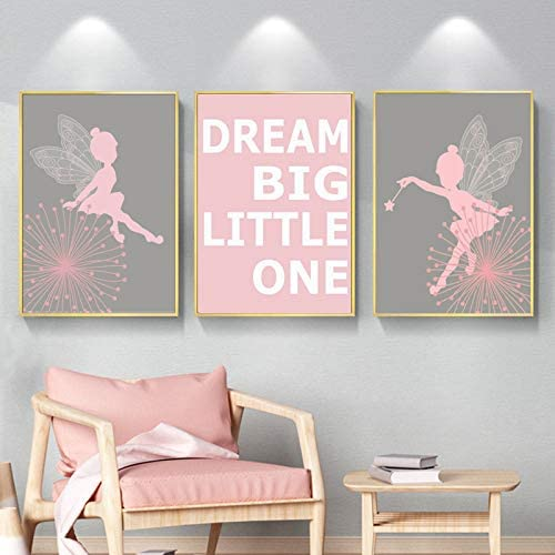 Fairy Girls Wall Art Sales results No. 1 Canvas Dream Posters SALENEW very popular! Little Big Pink One an