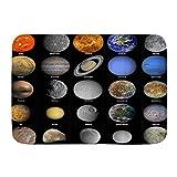 QIUTIANXIU Badezimmerteppich rutschfest - Weiche Badematte,Sonnensystem Weltraum Planet Erde Mond Sonne,Badvorleger,Badeteppich,75 * 45cm