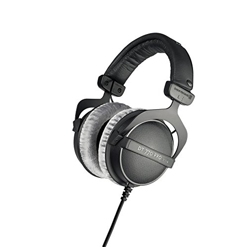 beyerdynamic DT 770 PRO 80 Ohm Over-Ear Studio Headphones in Gray. Enclosed design, wired for professional recording and monitoring