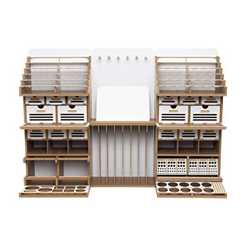 【プラモデル専用】 組立式作業棚 Arttystation Symphony (シンフォニー) 充実の収納力 プラモデル 棚 模型 工具 収納 整理 部屋 収納 作業台 デスク プラモデル 塗料 飾り棚 プラモデル道具収納 ガンプラ棚 ワーク ステーション