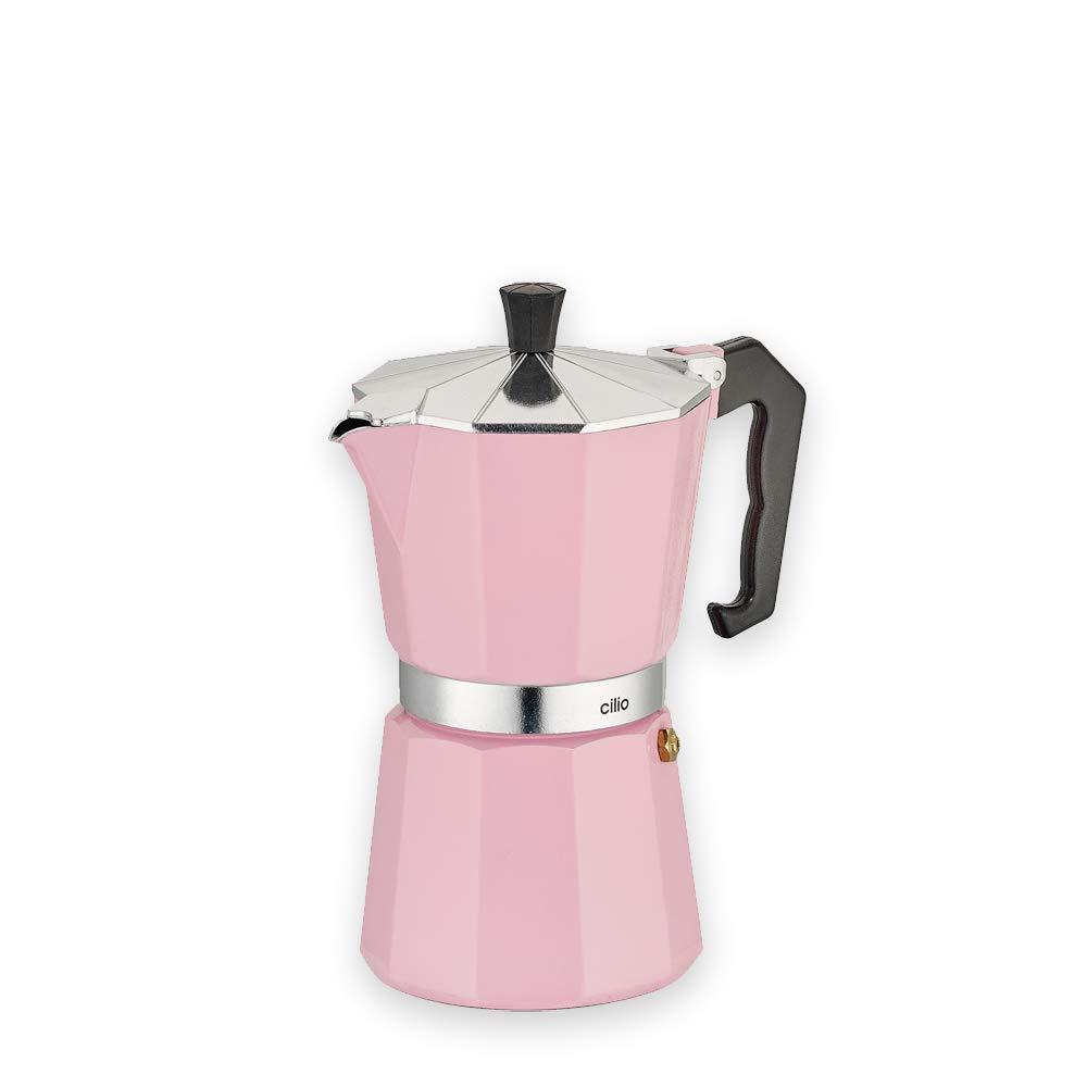 Cilio Classico - Cafetera italiana (6 tazas), color rosa: Amazon ...