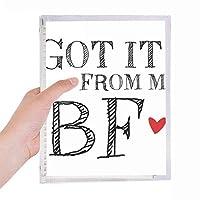 gfは、私のbfはバレンタインデーからそれを得ました 硬質プラスチックルーズリーフノートノート
