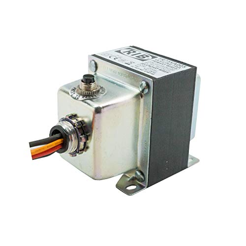 Functional Devices TR75VA005 Transformer, 75 VA, 480/240/208/120 to 24 Vac, Circuit Breaker, Foot and Single Threaded Hub Mount