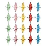 Amosfun 100 Piezas Origami Grullas de Papel Cumpleaños Boda Día de San Valentín Decoraciones para Fiestas 9 Cm (Color Mixto)