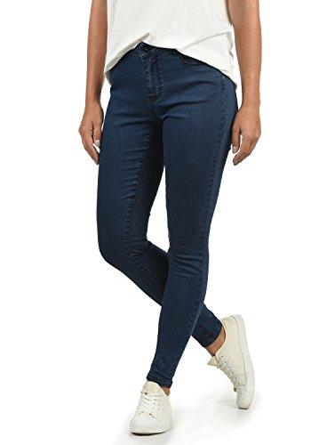 VERO MODA Jenna Damen Jeans Denim Hose Strech Mid-Rise Skinny Fit, Größe:XS/ L32, Farbe:Dark Blue