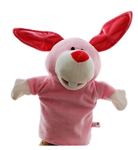 XIAOZSM Juguete de Peluche Kid Puppets Animal Wildlife Hand Glove Puppet Suave Puppets Puppole de Juguete Adorable (Color : Rabbit)