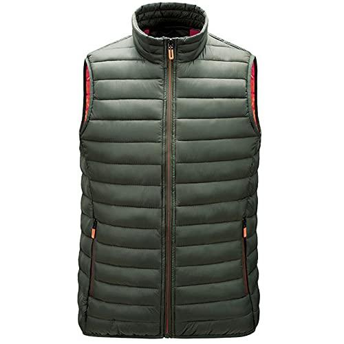 Chaleco de los hombres de cuello de pie chaqueta de algodón chaleco exterior fino suave calor