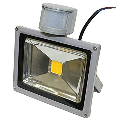 GLW 20w LED Motion Sensor Detector Flood Light PIR Outdoor Lamp IP65 WARM WHITE