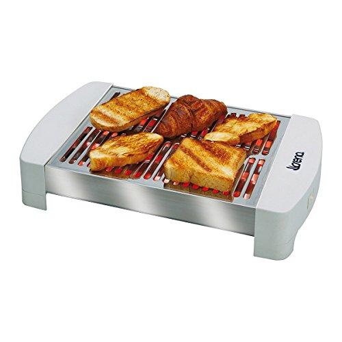 Crena - Tostadora horizontal para todo tipo de pan ancho y largo, 4 barras cuarzo, 500W