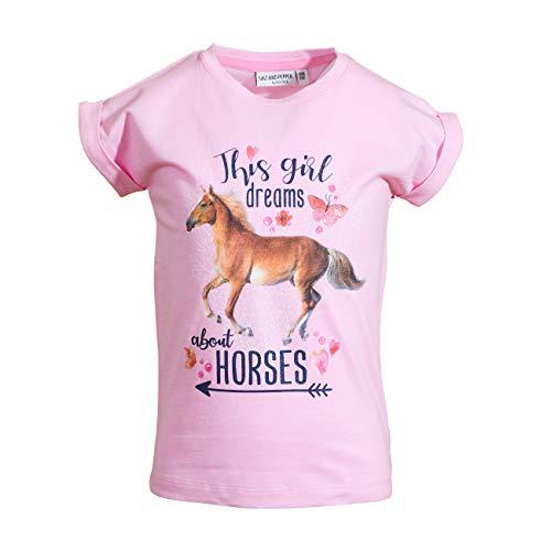 SALT AND PEPPER Mädchen Awesome Uni Print T-Shirt, Sorbet Rose, 116/122