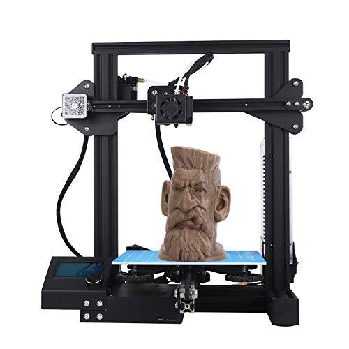 WUAZ Imprimantes 3D, Écran LCD Bricolage Bureau Kit d'impression 3D avec Antichocs Aviation Cadre en Bois (Const Taille 220 * 220 * 250Mm)