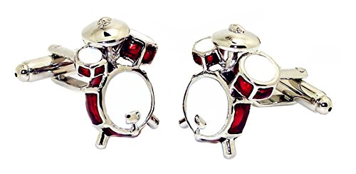 Covink® Men's Cute Drum Kit Cufflinks For Wedding French Shirt