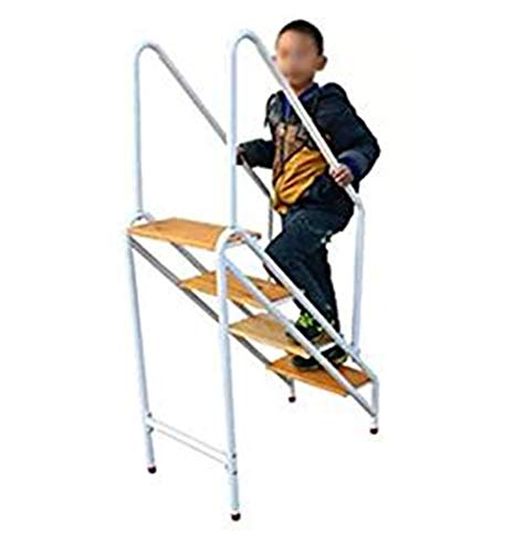 GG.S Escalera De 4 Escalones Pedal De Madera Maciza Antideslizante Engrosada Familia Ático Biblioteca Marco De Piscina Capacidad De Carga Máxima 150 Kg