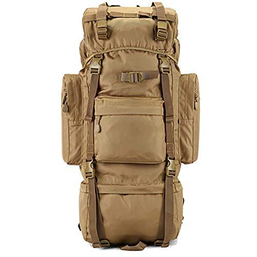 Interner Rahmen Trekking Rucksäcke Mit Regenschutz, 100l Militärische Taktischer Wasserdicht Wanderrucksack Gepäckbeutel-b 100l