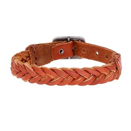 Leder Armband Herren Lederarmband Männer Echtleder Vintage - Geschenk für Männer - Made by Nami Leder Armband (Hellbraun)