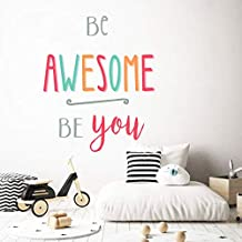 Holly LifePro Be Awesome Be You Wall Decals Peel and Stick Wall Sticker for Home Bedroom Nursery Room Wall Decor