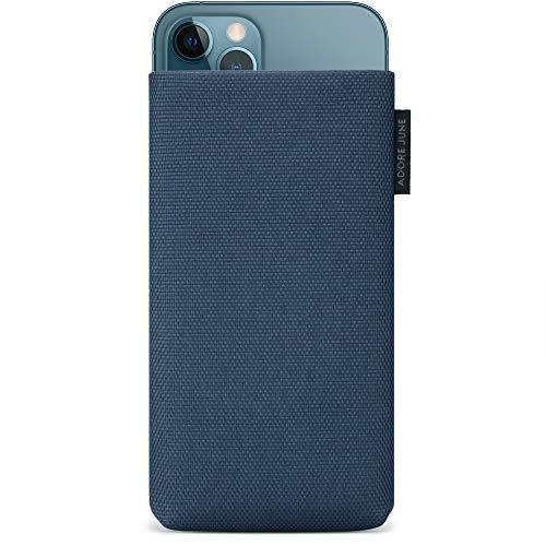 Adore June 6,7 Zoll Handytasche Classic Recycled Blau kompatibel mit iPhone 12 Pro Max, Moderne Nachhaltige Nylon-Stoffe, Made in Europe