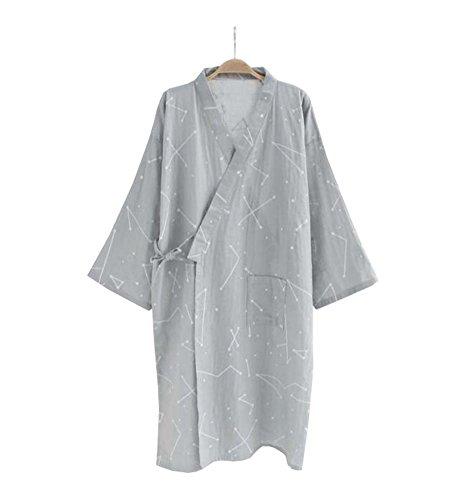 Juego de pijamas y albornoces Kimono Robe and Pant para hombre (Thin) - A2