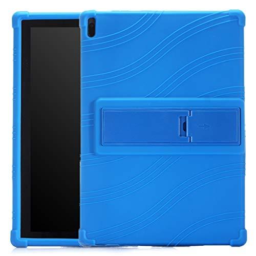 Liluyao Más Casos para Tableta Caja Protectora de la Tableta PC de Silicona con Soporte Invisible (Color : Dark Blue)