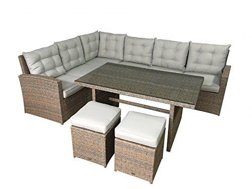 Jet-Line de 2745- Set de muebles de jardin La Palma, color crudo: Amazon.es: Hogar