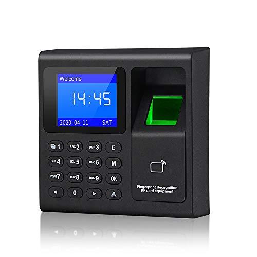 KDL Máquina biométrica de asistencia de tiempo de huellas dactilares Reconocimiento de huellas digitales Reloj de tiempo Teclado de control de acceso RFID para el sistema de seguridad de la puerta