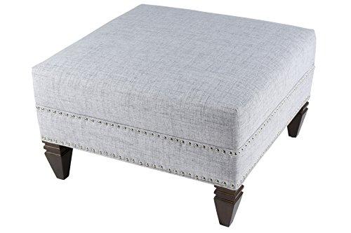 MJL Furniture Designs Hugo Collection Square Ottoman, Silver