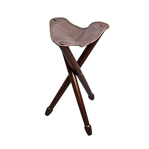 Dreibenhocker - Sitzstuhl - Sitzhocker mit Echtledersitz