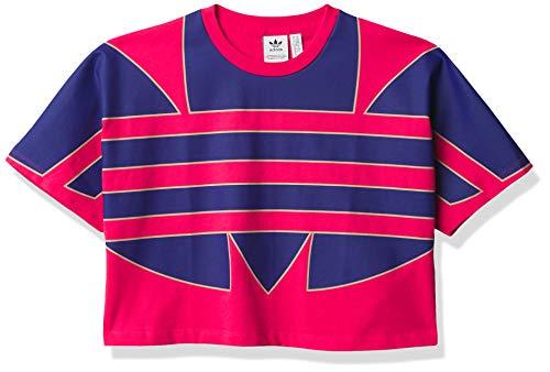 adidas Originals Damen Big Trefoil T-Shirt - Pink - Mittel